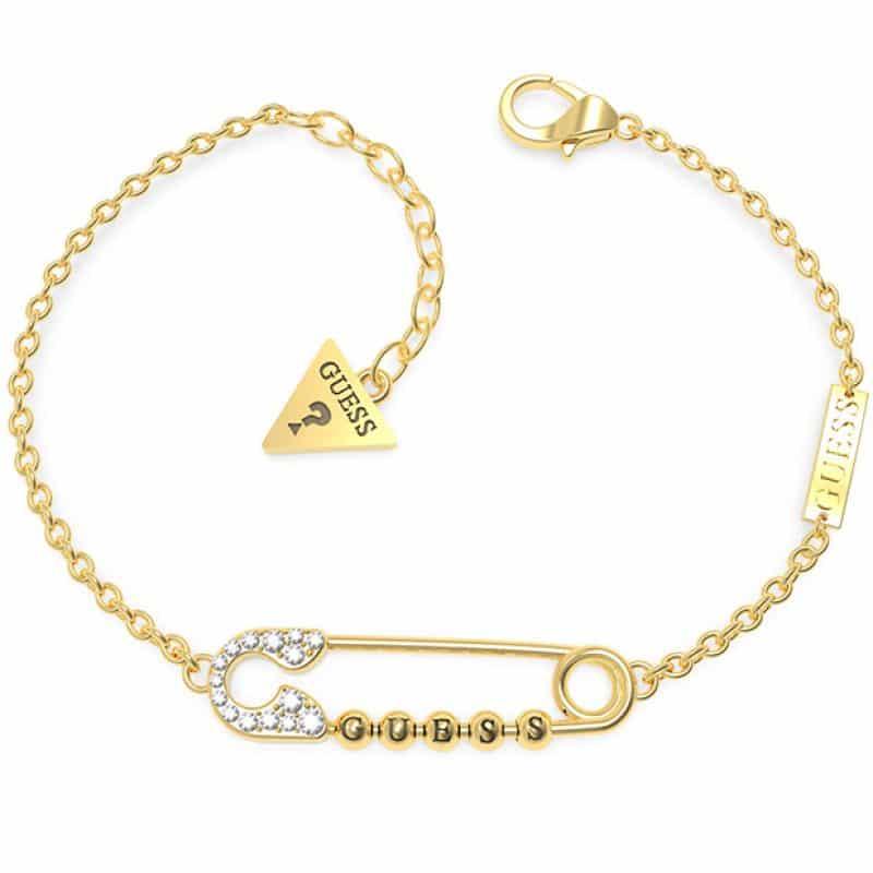 Bracelet acier doré épingle et cristaux de Swarovski