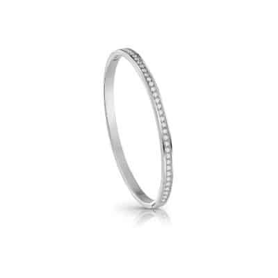 bracelet Jonc guess acier rhodié pavé cristaux