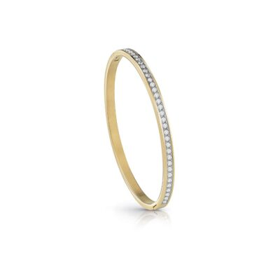 bracelet Jonc guess acier doré rhodié pavé cristaux