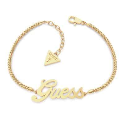 Bracelet acier doré Logo GUESS