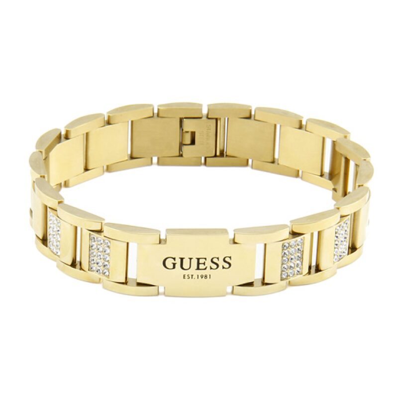 Bracelet GUESS acier doré et cristaux