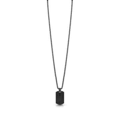 Collier GUESS HOMME acier plaque noire