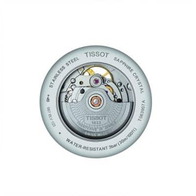 MONTRE TISSOT TRADITION POWERMATIC 80 OPEN HEART AUTOMATIQUE ET BRACELET CUIR NOIR